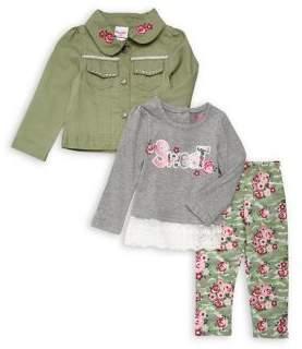 Nannette Little Girl's Three-Piece Floral Set