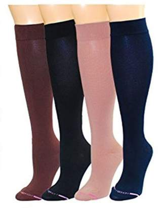 Equipment 4 Pairs Dr. Motion Graduated Compression Knee-hi Women's Socks
