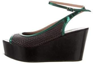 Dries Van Noten Platform Wedge Sandals