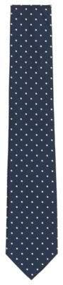 BOSS Hugo Polka Dot Silk Blend Tie One Size Dark Blue