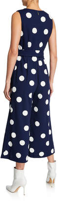 Karl Lagerfeld Paris Fit-and-Flare Polka-Dot Jumpsuit