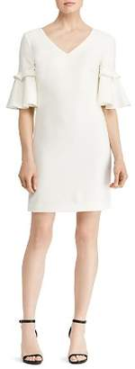 Ralph Lauren Bell-Sleeve Crepe Dress