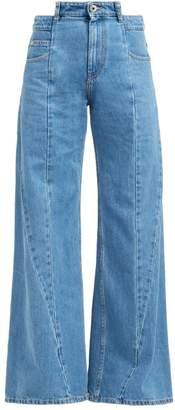 Maison Margiela Wide Leg Cut Out Waist Jeans - Womens - Denim