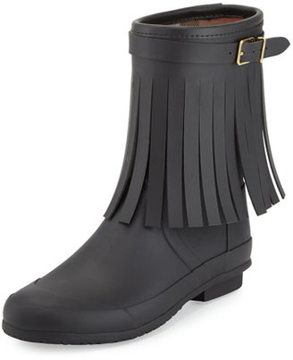 Burberry Reston Fringe Rain Boot, Black $375 thestylecure.com