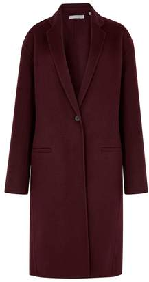 Vince Burgundy Wool-blend Coat