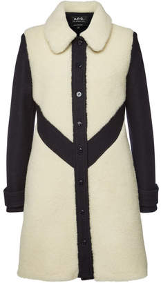 A.P.C. Coat with Virgin Wool and Cotton