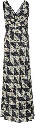 ALEXACHUNG Bias-Cut Silk Crepe Maxi Dress