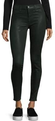 J Brand Coated Super Skinny Jeans