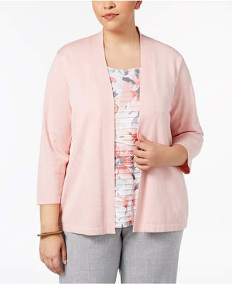 Alfred Dunner Plus Size Lakeshore Drive Layered-Look Sweater