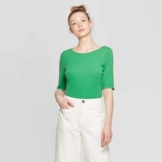 Who What Wear Women's Ballet Elbow Sleeve Scoop Neck T-Shirt