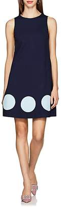 Lisa Perry Women's Dot-Inset Ponte A-Line Dress