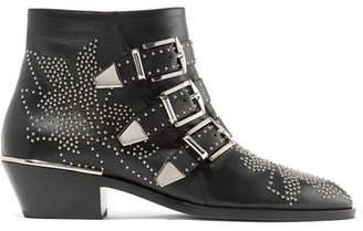 Chloé Susanna Studded Leather Ankle Boots - Black