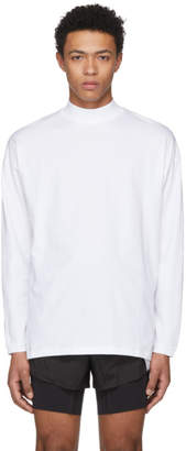 Martine Rose White Classic Funnel Neck T-Shirt