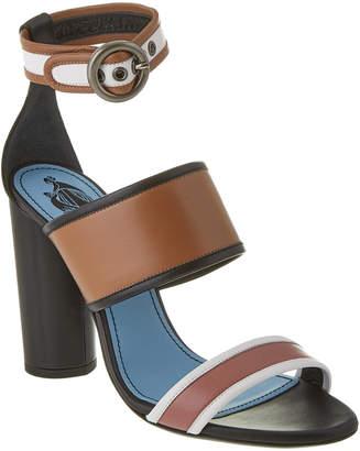 Lanvin Color Block Leather Heeled Sandal