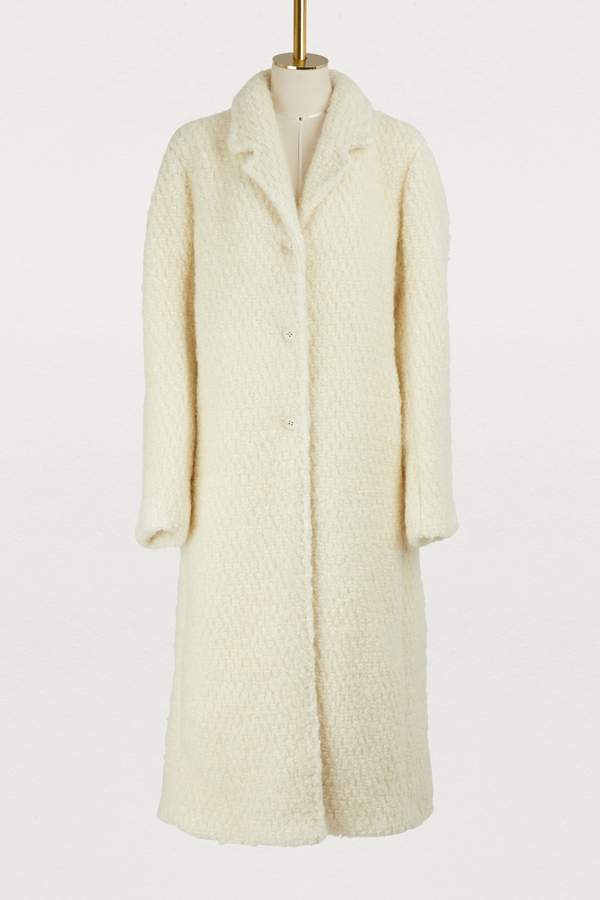 Frejus wool and mohair coat