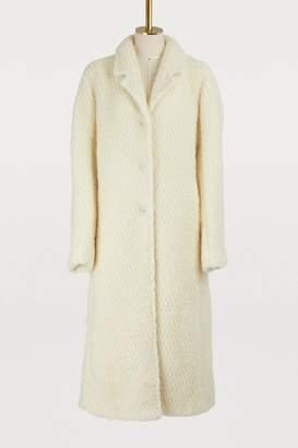 Jil Sander Frejus wool and mohair coat