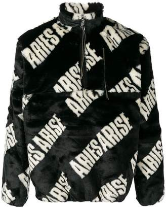 Aries logo print pullover top