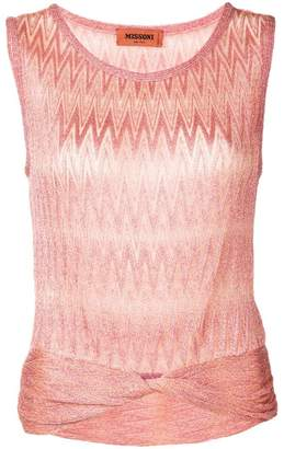 Missoni glitter ruched top