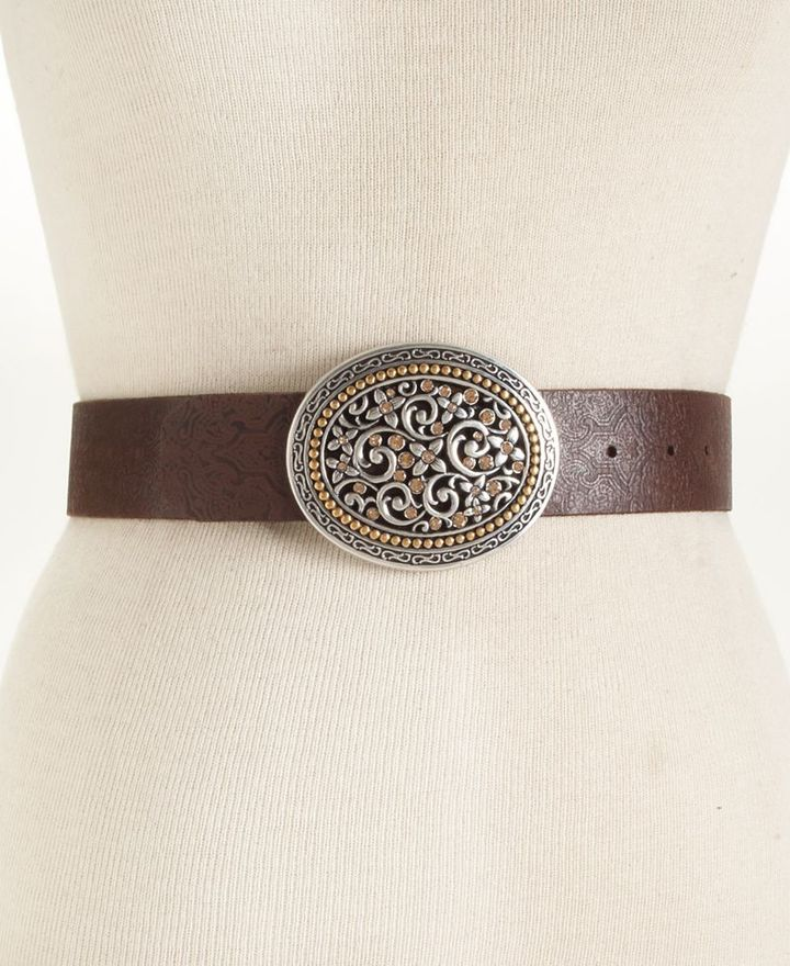 Fossil Belt, Two Tone Buckle