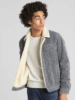 Gap Sherpa-Lined Icon Cord Jacket