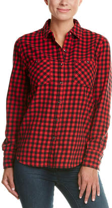 True Religion Plaid Utility Top