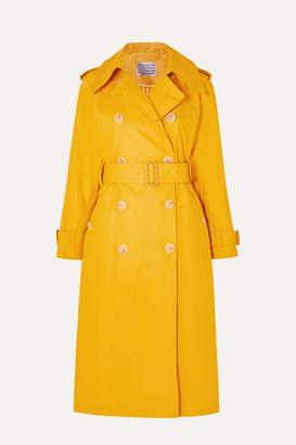 ALEXACHUNG Cotton-gabardine Trench Coat - Mustard