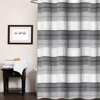 At Walmart Popular Bath Products Hellen 100 Cotton Fabric Striped Shower Curtain 70