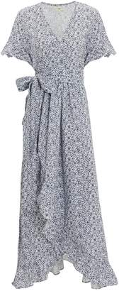 Nightcap Clothing Indigo Ruffle Maxi Dress