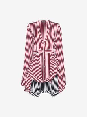 Alexander McQueen Stripe Mini Shirt Dress