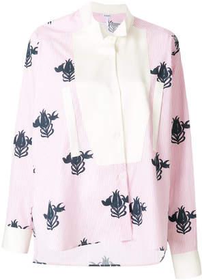 Loewe floral asymmetric shirt