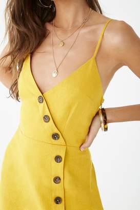 Forever 21 Linen-Blend Surplice Cami Dress