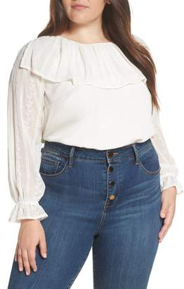 1 STATE 1.STATE Embroidered Overlay Blouse