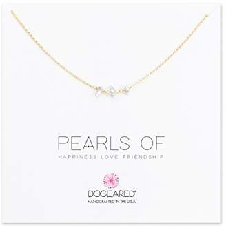 Dogeared Women's 14ct Gold Filled Pearls of Happiness Love Friendship Triple Teeny Keshi Pearl Necklace of Length 40.64cm