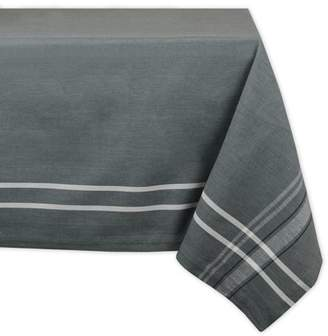 """Design Imports Contemporary Rectangle French Chambray Kitchen Tablecloth, 120"""" x 60"""", 100% Cotton, Multiple Colors/Sizes"""