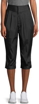 Y-3 Women's Pleated Carrot Fit Cropped Pants