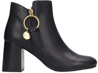 See by Chloe Ankle Boots In Black Leather