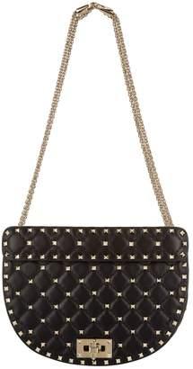 Valentino Leather Rockstud Spike Saddle Bag