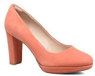 Clarks Women's Kendra Sienna Rounded toe High Heels in Orange