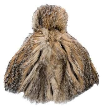 Prada Fox Fur Pom-Pom Hat