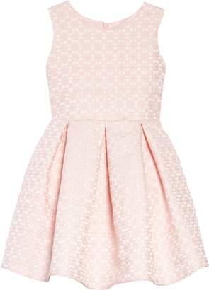 Dorissa Jacquard Glitter Fit & Flare Dress