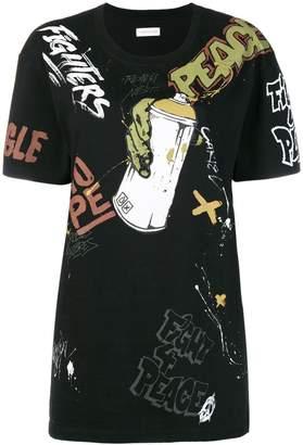 Faith Connexion graffiti print T-shirt
