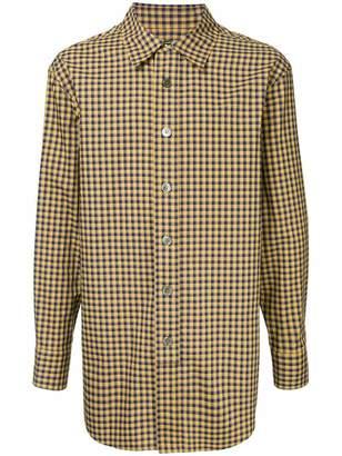 Wooyoungmi longline check shirt
