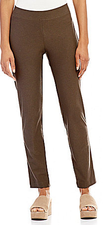 Eileen Fisher Crepe Slim Ankle Pants with Yoke