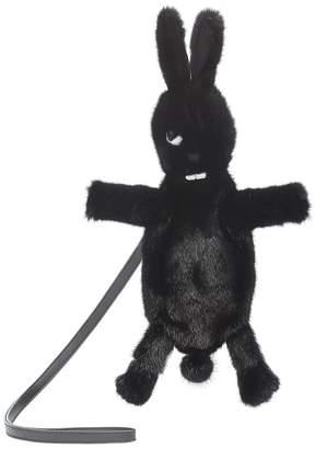 Rick Owens HUNRICKOWENS Fat Bunny fur clutch