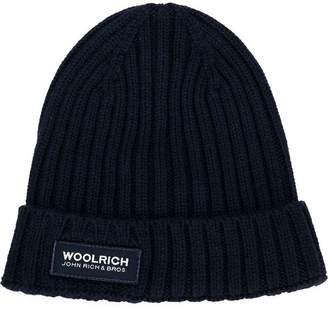 Woolrich Kids ribbed knitted beanie