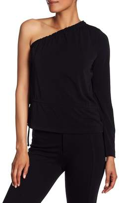 Rachel Roy One Shoulder Bell Sleeve Blouse