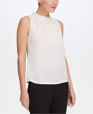 DKNY Ruffle-Collar Sleeveless Blouse