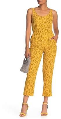Velvet Torch Cutout Floral Jumpsuit