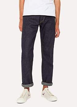 Paul Smith Men's 14oz Raw Selvedge Denim Red Ear Jeans