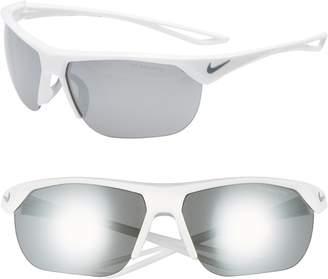 Nike Trainer 63mm Mirrored Shield Sunglasses